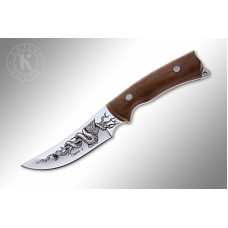 """Gurza-2"" Walnut handle (AUS-8 Steel)"