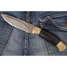 """Russian knife """"Bumblebee"""" (Damascus steel, Hornbeam)"""